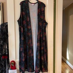 Lularoe Joy, Long Duster-style Vest, XL